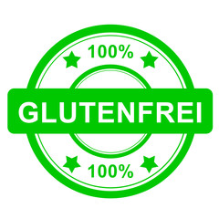 Stempel rund grün - 100% Glutenfrei