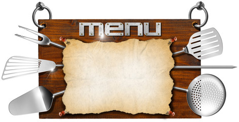 Menu Wooden Signboard