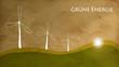 Grüne Energie Vintage Transparent