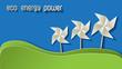 Green Eco Energy Power Papier Papiermühle bunt