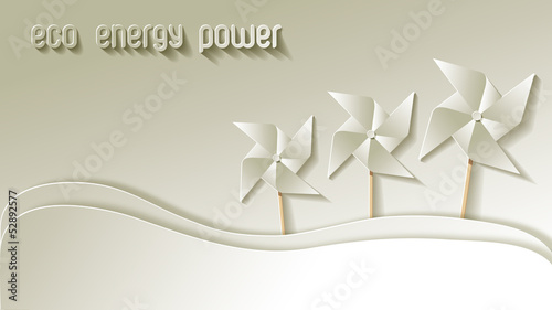 Green Eco Energy Power Papier