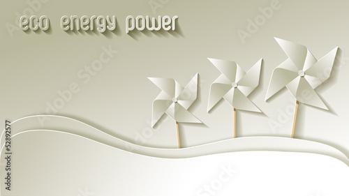 Green Eco Energy Power Papier