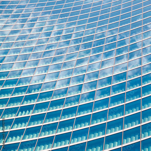 Modern glass skyscraprer detail