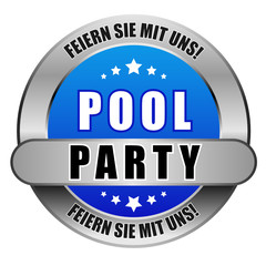 5 Star Button blau POOLPARTY FSMU FSMU