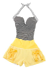 Sweetheart halter cute striped fashion look