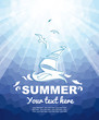 Summer nautical background