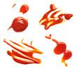 Leinwandbild Motiv ketchup stain fleck