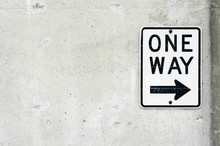 Traffic Sign One way