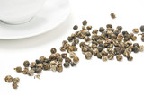 Jasmine infused green tea pearls