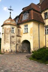Ancient medieval castle of the XIV century Jaunpils, Latvia