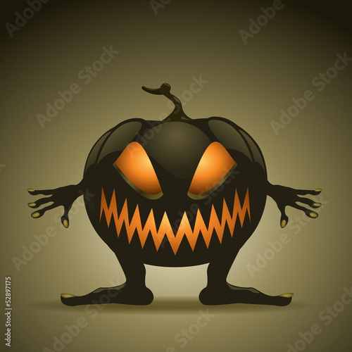Halloween background with pumpkins. EPS10