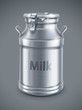can container for milk on gray background - EPS10 vector