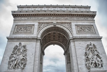 Paris. Beautiful view of Triumph Arc. Arc de Triomphe