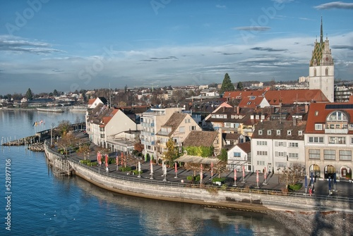 Beautiful medieval architecture in Friedrichshafen - Germany