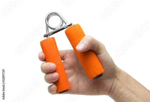 Hand Squeeze Spring Hand Grip Strengthener and Exerciser Poster