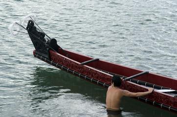Maori War Waka Canoe