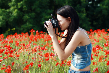 girl in poppies field