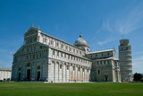 Pisa, Italy. Cathedral of Pisa with Leaning Tower