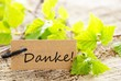 label with danke!