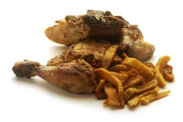 Pollo con fritas