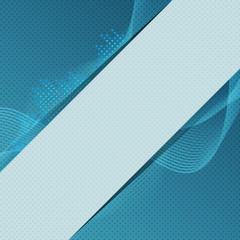 Digital blue equalizer background with text fild.