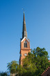 Lutheran Church Steeple Under Blue Skies