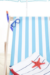 Beach chair and accessories