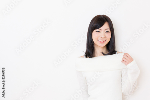 young asian woman relaxing