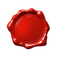 Red Wax Seal 4 - Isolated