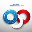 4th july american independence day blue whit and red circle back