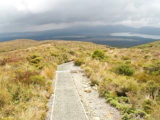 Tongariro crossing in New Zealand