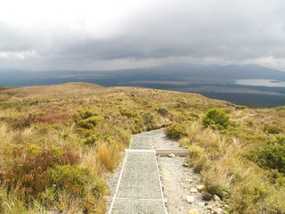 Tongariro crossing in New Zealand