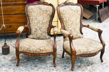 Old armchairs