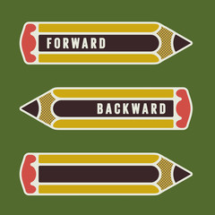 pencil as arrow or pointer
