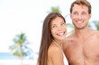 Romantic young couple on beach vacation