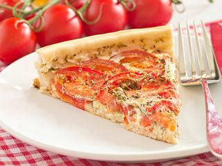 Quiche aus Tomaten