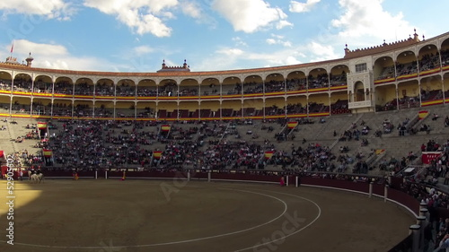 Bullfighting. Start. Timelapse