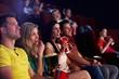 canvas print picture - Spectators in multiplex movie theater