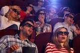 Shocking 3D movie in cinema