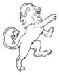 Heraldic coat of arms lion