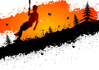 Climbing abstract background