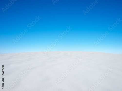 Snow and cloudy sky. Beautiful winter landscape