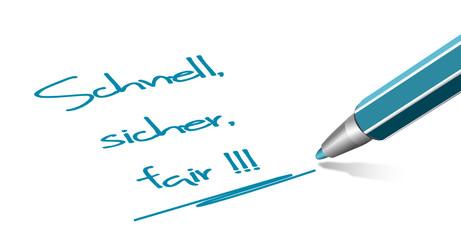 Stift - schnell, sicher, fair