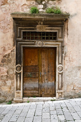 Sibenik. Wooden Door