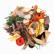 Déchets pour compost avec logo recyclage