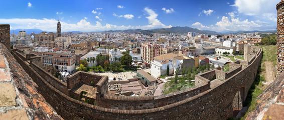 Panorama of Malaga as seen from the Alcazaba