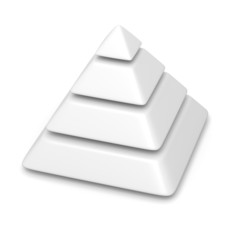 blank pyramid 4 levels stack