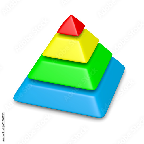 colorful pyramid 4 levels stack