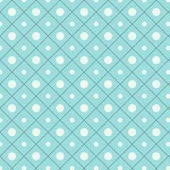 Seamless polka dot pattern in retro style, soft colors.