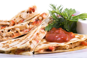 Quesadillas with Cajun Chicken